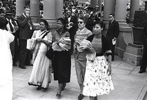 Women's march to South African Parliament in 1956